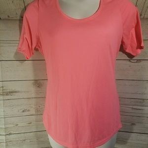 2 for 15 Lane Bryant Bright Pink Short Sleeve Tee